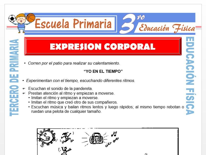 Modelo de la Ficha de Expresión Corporal para Tercero de Primaria
