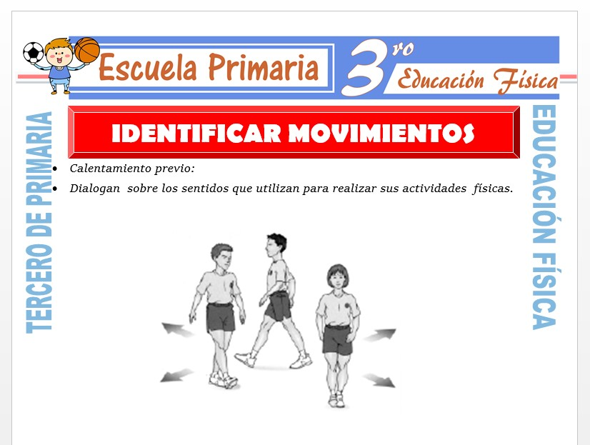 Modelo de la Ficha de Identificar Movimientos para Tercero de Primaria