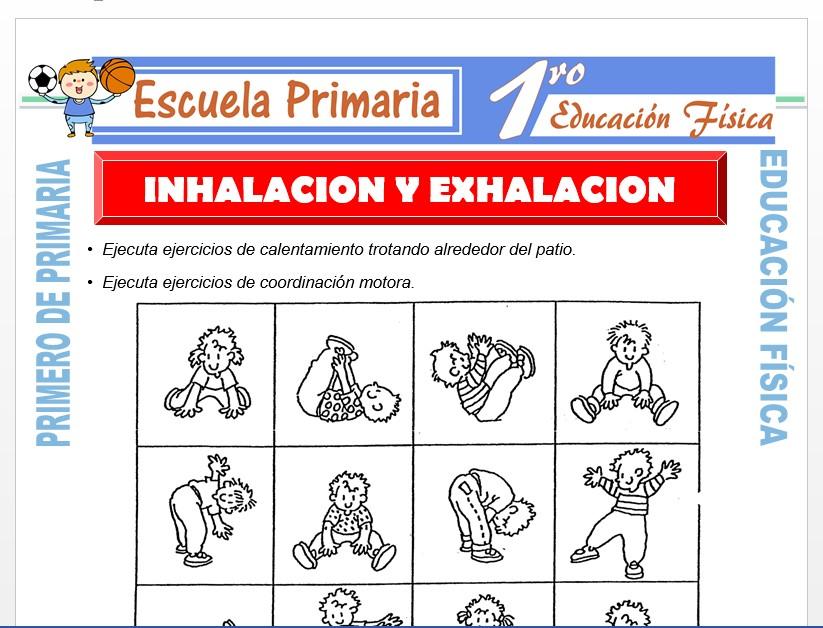 Modelo de la Ficha de Inhalación y Exhalación para Primero de Primaria