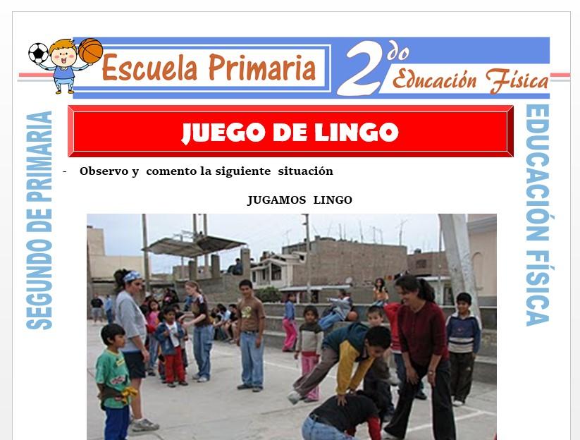 Modelo de la Ficha de Juego de Lingo para Segundo de Primaria