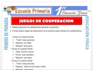 Modelo de la Ficha de Juegos de Cooperación para Primero de Primaria