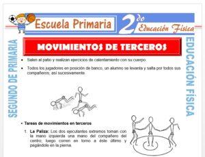 Modelo de la Ficha de Movimientos de Terceros para Segundo de Primaria