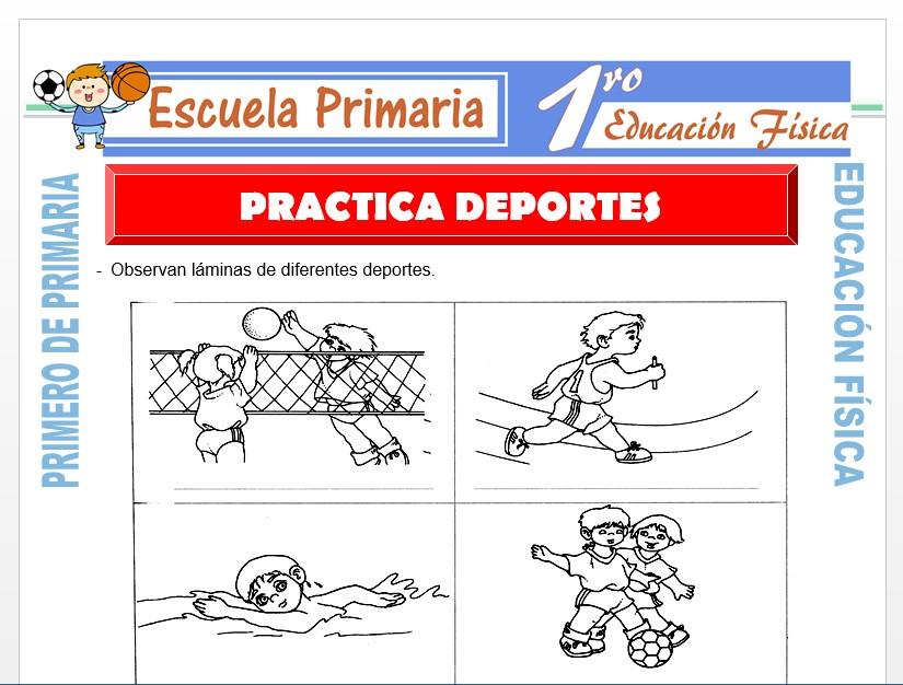 Modelo de la Ficha de Practica Deporte para Primero de Primaria