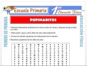 Modelo de la Ficha de Pupihabitos para Primero de Primaria