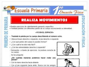 Modelo de la Ficha de Realiza Movimientos para Primero de Primaria