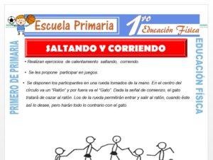 Modelo de la Ficha de Saltando y Corriendo para Primero de Primaria
