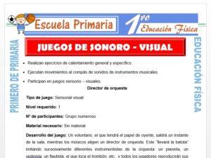 Modelo de la Ficha de Sonoro Visual para Primero de Primaria