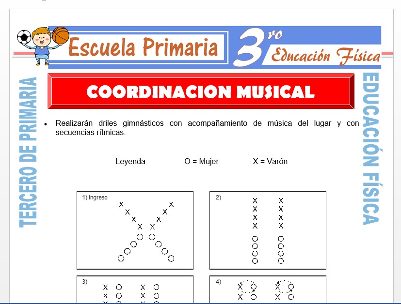 Modelo de la Ficha de Coordinación Musical para Tercero de Primaria