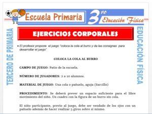 Modelo de la Ficha de Ejercicios Corporales para Tercero de Primaria
