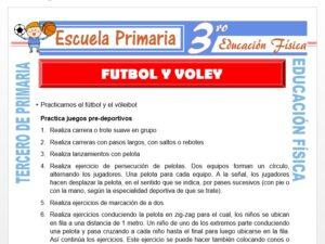 Modelo de la Ficha de Futbol y Vóley para Tercero de Primaria