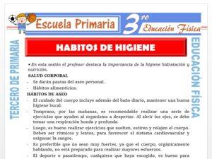 Modelo de la Ficha de Hábitos de Higiene para Tercero de Primaria