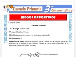 Modelo de la Ficha de Juegos Deportivos para Tercero de Primaria