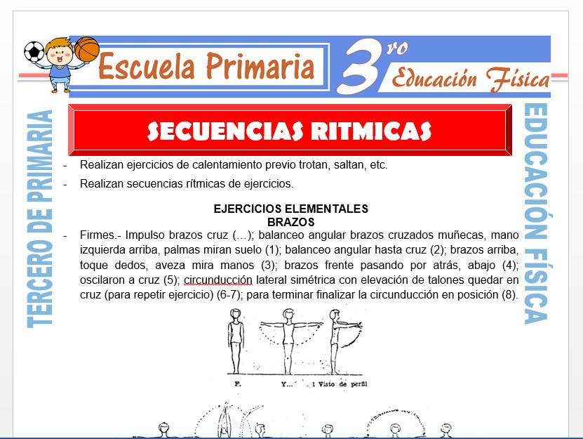 Modelo de la Ficha de Secuencias Rítmicas para Tercero de Primaria
