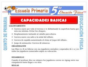 Modelo de la Ficha de Capacidades Básicas para Quinto de Primaria