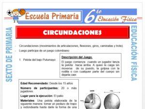 Modelo de la Ficha de Circundaciones para Sexto de Primaria
