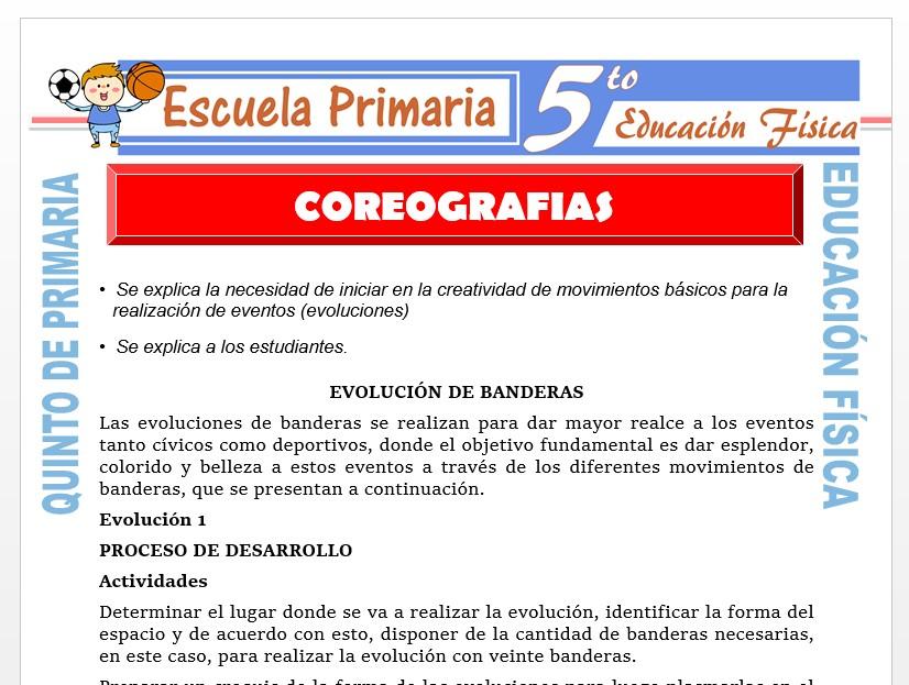 Modelo de la Ficha de Coreografías para Quinto de Primaria
