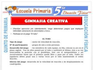 Modelo de la Ficha de Gimnasia Creativa para Quinto de Primaria