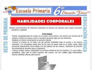 Modelo de la Ficha de Habilidades Corporales para Sexto de Primaria