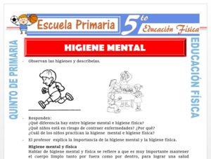 Modelo de la Ficha de Higiene Mental para Quinto de Primaria