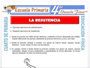 Modelo de la Ficha de La Resistencia para Cuarto de Primaria
