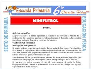 Modelo de la Ficha de Mini futbol para Sexto de Primaria