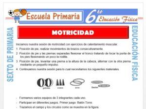 Modelo de la Ficha de Motricidad para Sexto de Primaria