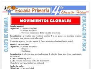 Modelo de la Ficha de Movimientos Globales para Cuarto de Primaria